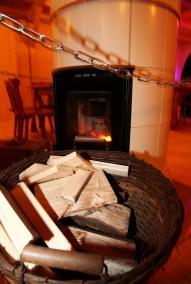Kamin im Hüttenrestaurant